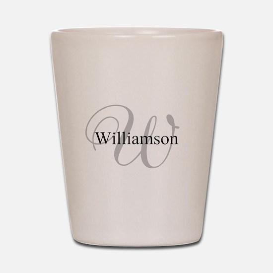 CUSTOM Initial and Name Gray/Black Shot Glass