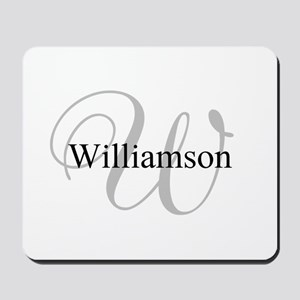 CUSTOM Initial and Name Gray/Black Mousepad