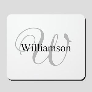 CUSTOM Initial and Name Gray/Black Mousepad