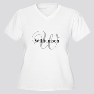 CUSTOM Initial an Women's Plus Size V-Neck T-Shirt