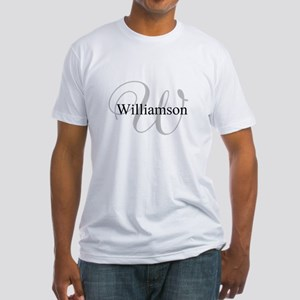 CUSTOM Initial and Name Gray/Black Fitted T-Shirt