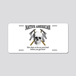 Native American (skull) Aluminum License Plate