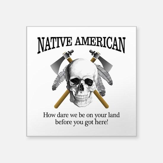 Native American (skull) Sticker