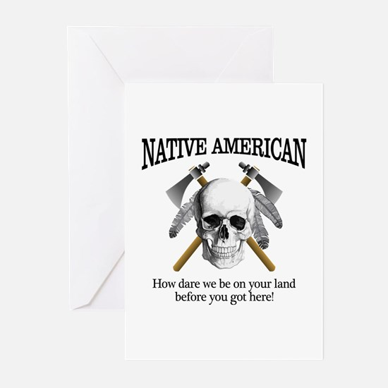 Native American (skull) Greeting Cards