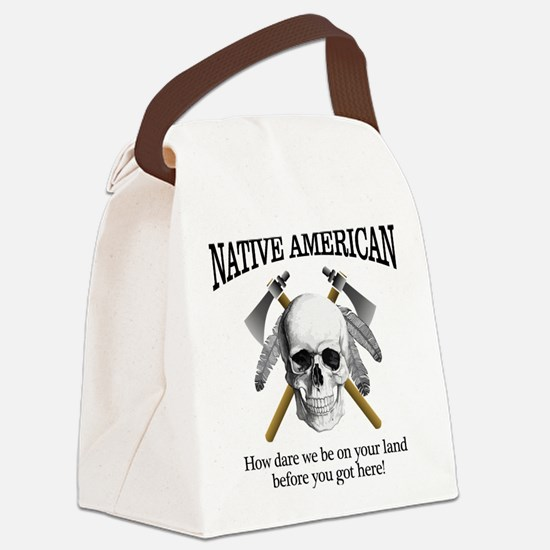 Native American (skull) Canvas Lunch Bag
