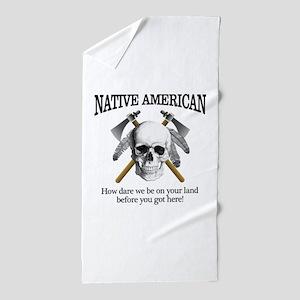 Native American (skull) Beach Towel