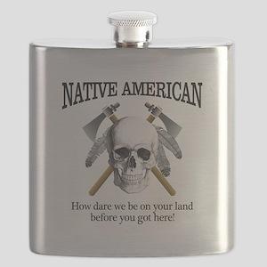 Native American (skull) Flask