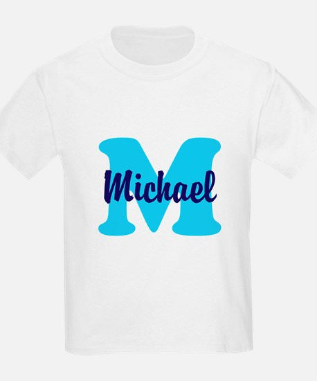 CUSTOM Initial and Name Blue T-Shirt