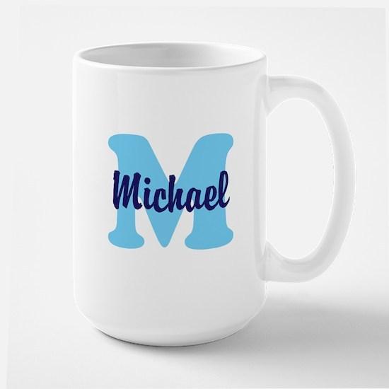 CUSTOM Initial and Name Blue Large Mug