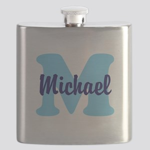 CUSTOM Initial and Name Blue Flask