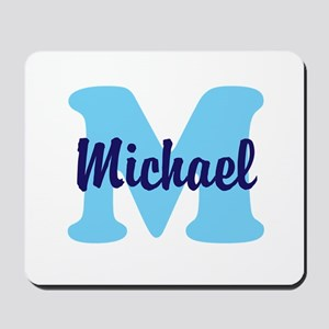 CUSTOM Initial and Name Blue Mousepad
