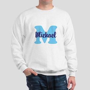 CUSTOM Initial and Name Blue Sweatshirt