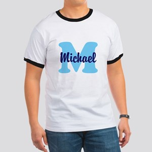 CUSTOM Initial and Name Blue Ringer T