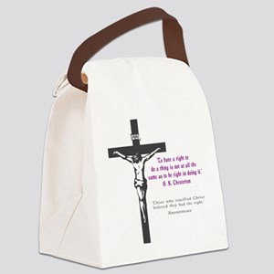 Chesterton and Doing Right Canvas Lunch Bag