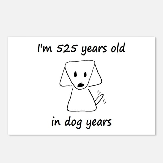 75 dog years 6 - 2 Postcards (Package of 8)