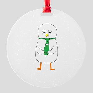Tie Me Up Round Ornament