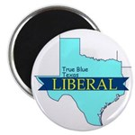 "2.25"" Magnet (100 pack) True Blue Texas LIBERAL"