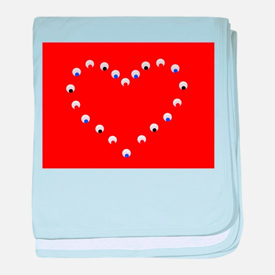 Red Jojo's Heart Valentine 581 baby blanket
