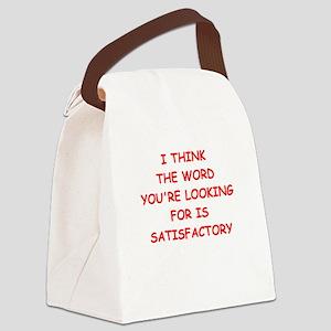satisfactory Canvas Lunch Bag