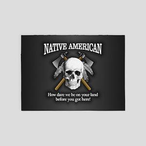Native American (skull) 5'x7'Area Rug