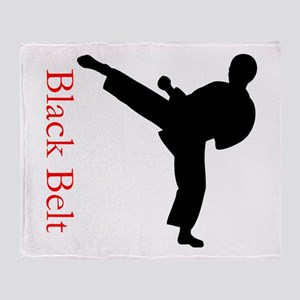 Black Belt Personalized Throw Blanket
