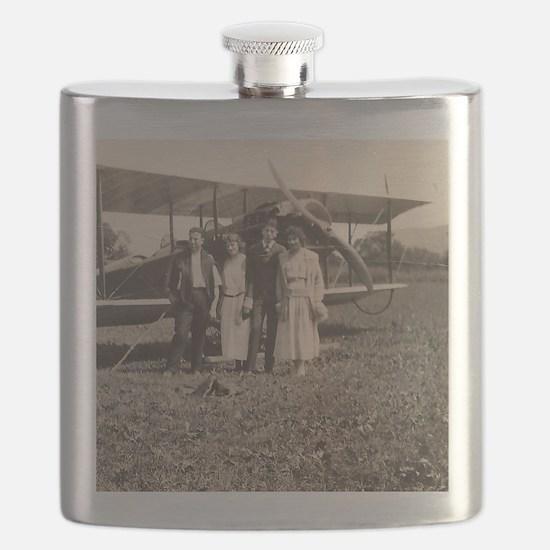 Early Biplane Flask