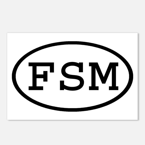 FSM Oval Postcards (Package of 8)