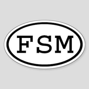 FSM Oval Oval Sticker