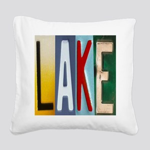 Lake Square Canvas Pillow