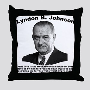 LBJ: Vote Throw Pillow