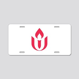 UU red flame logo Aluminum License Plate