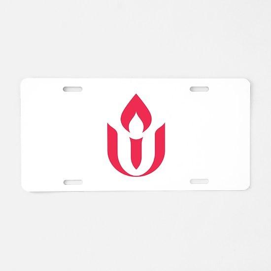 UU red flame logo Aluminum License Plate