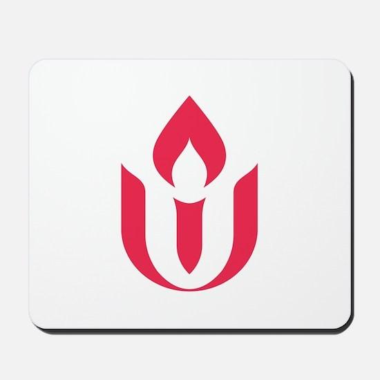 UU red flame logo Mousepad