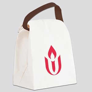 UU red flame logo Canvas Lunch Bag