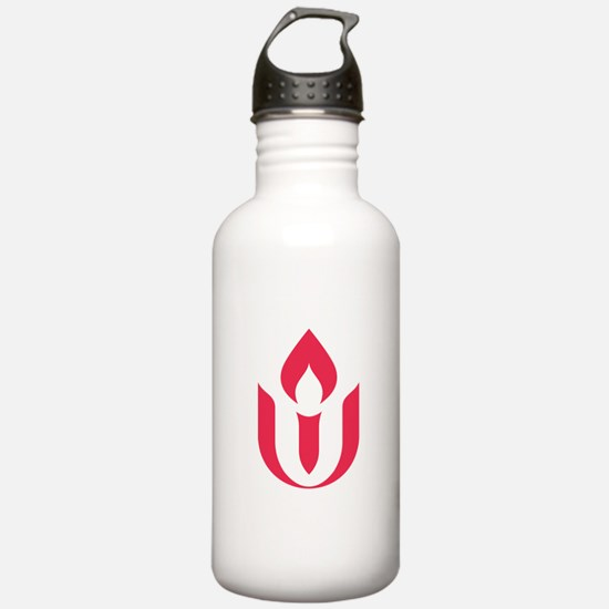 UU red flame logo Water Bottle