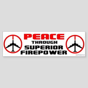 Peace Through Superior Firepower II Sticker (Bumpe