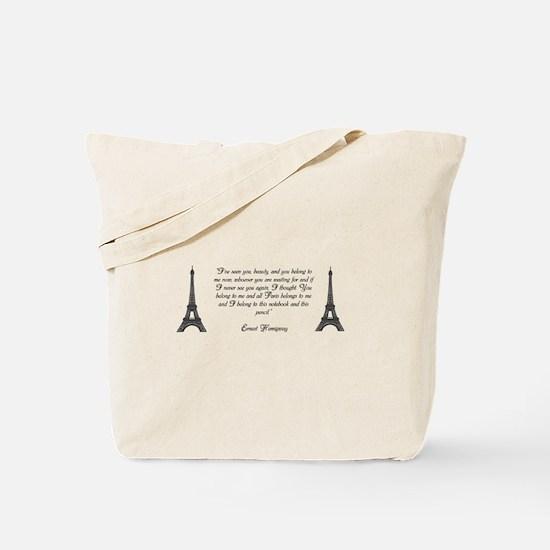 Paris belongs to me Tote Bag