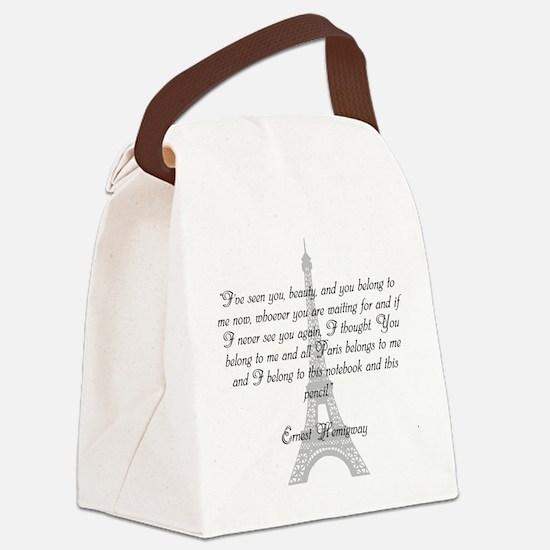 Paris Belongs to Me Canvas Lunch Bag