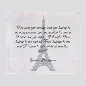 Paris Belongs to Me Throw Blanket