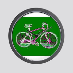 Ditch the Car Ride A Bicycle Green for Wall Clock