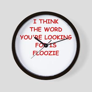 floozie Wall Clock