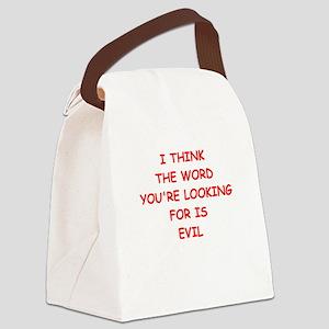 evil Canvas Lunch Bag