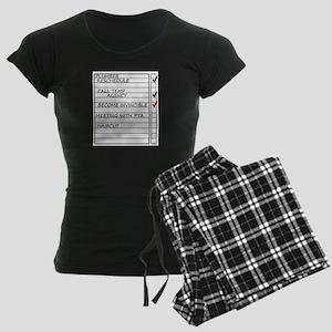 INVINCIBLEGOOD1 Women's Dark Pajamas