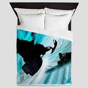 Snowmobiling on Icy Trails 2 Queen Duvet
