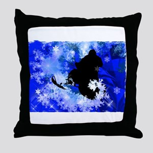 Snowmobiling in the Avalanche Edges ( Throw Pillow