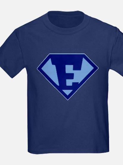 Super Hero Letter E T-Shirt
