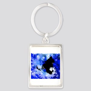 Snowmobiling in the Avalanche Edges (2) Keychains