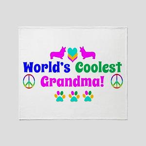 World's Coolest Grandma Throw Blanket