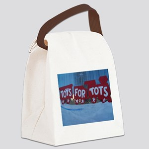 Toys For Tots Train. Canvas Lunch Bag