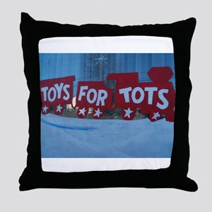 Toys For Tots Train. Throw Pillow